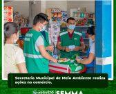 Secretaria Municipal de Meio Ambiente realiza ações no comércio.