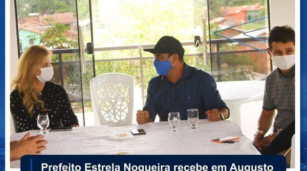 Prefeito Estrela Nogueira recebe em Augusto Correa a Deputada Estadual Nilse Pinheiro.