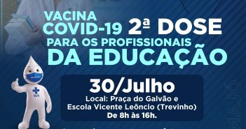 Vacina Covid-19 ON 2ª Dose para os profissionais da Educação